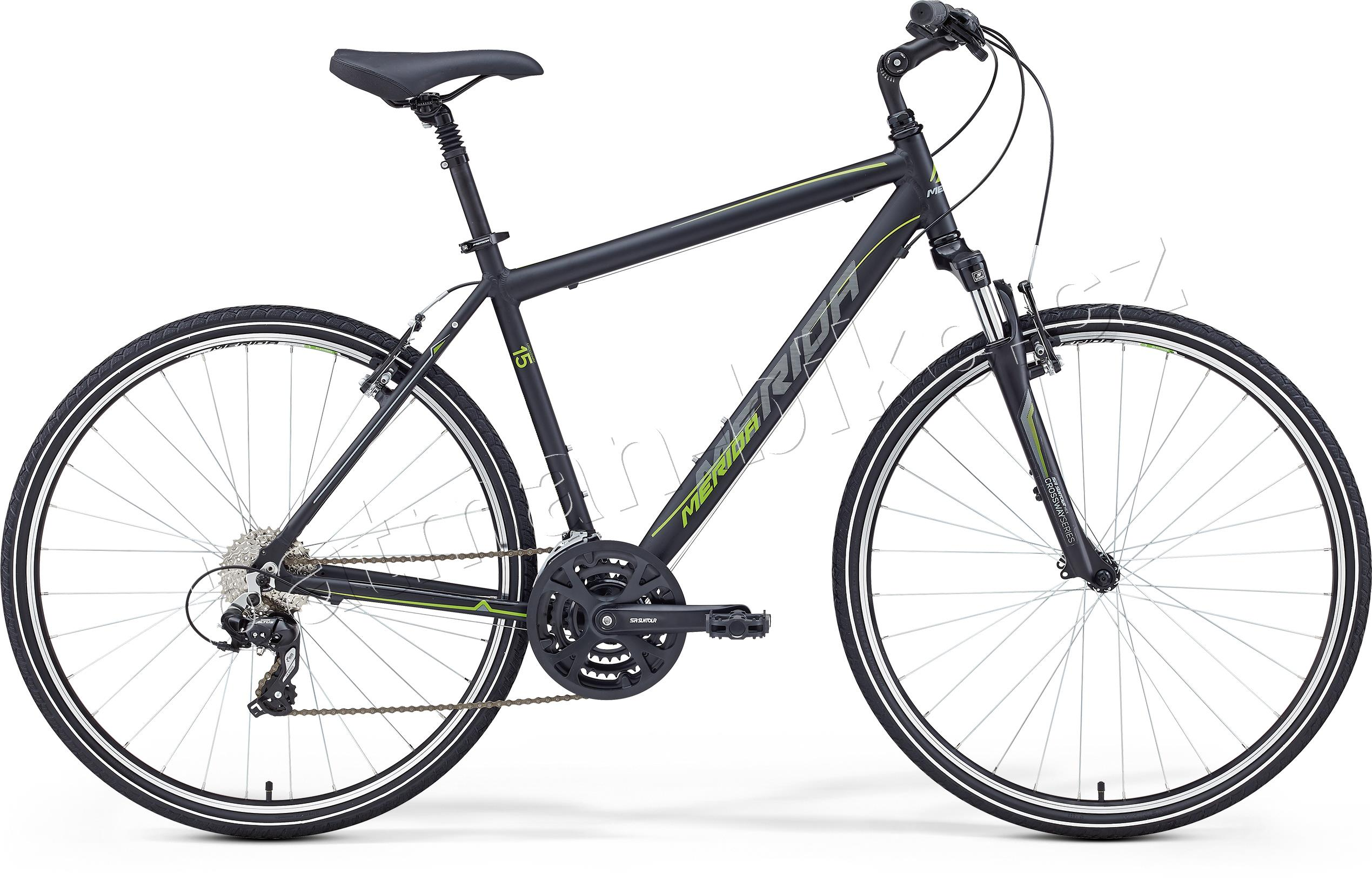 Merida CROSSWAY 15-V Matt Black(Green/Grey)* 58