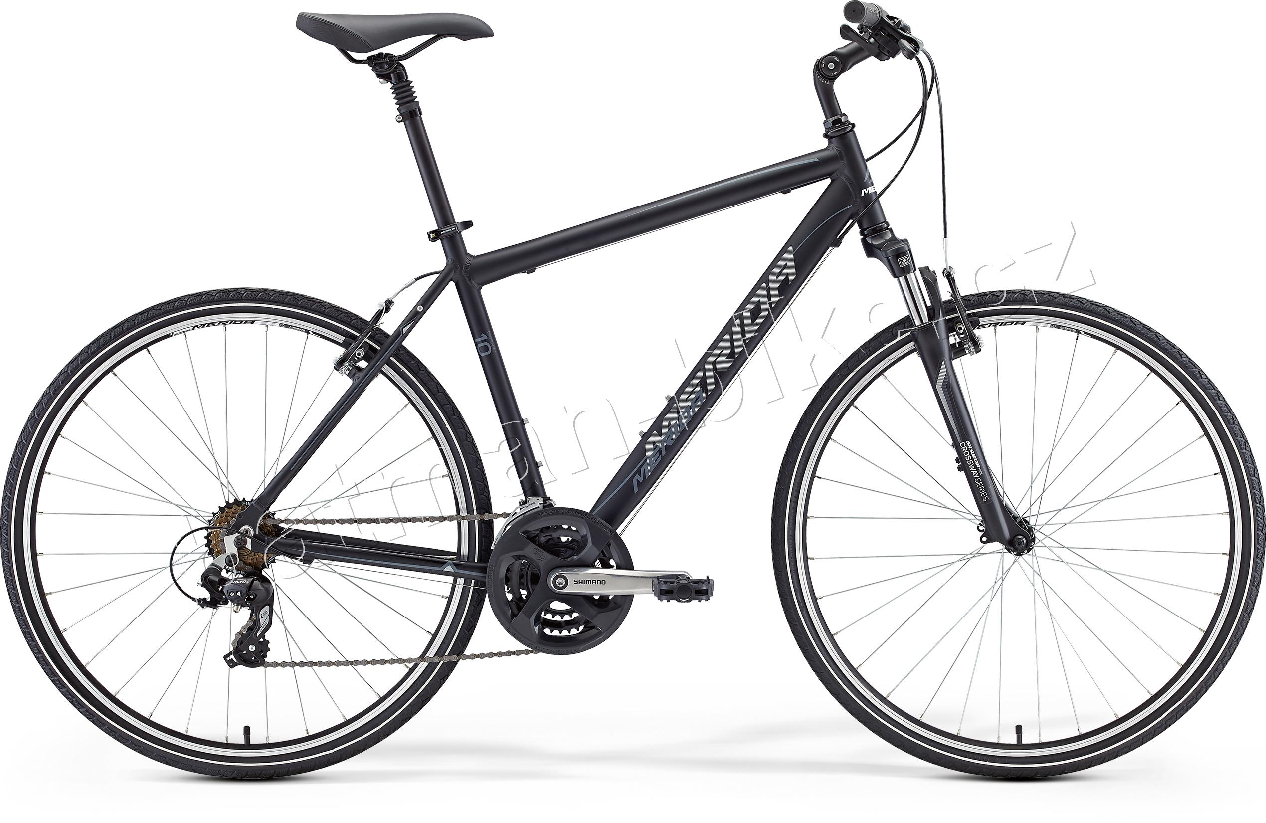 Merida CROSSWAY 10-V Matt Black(Grey/White)* 55