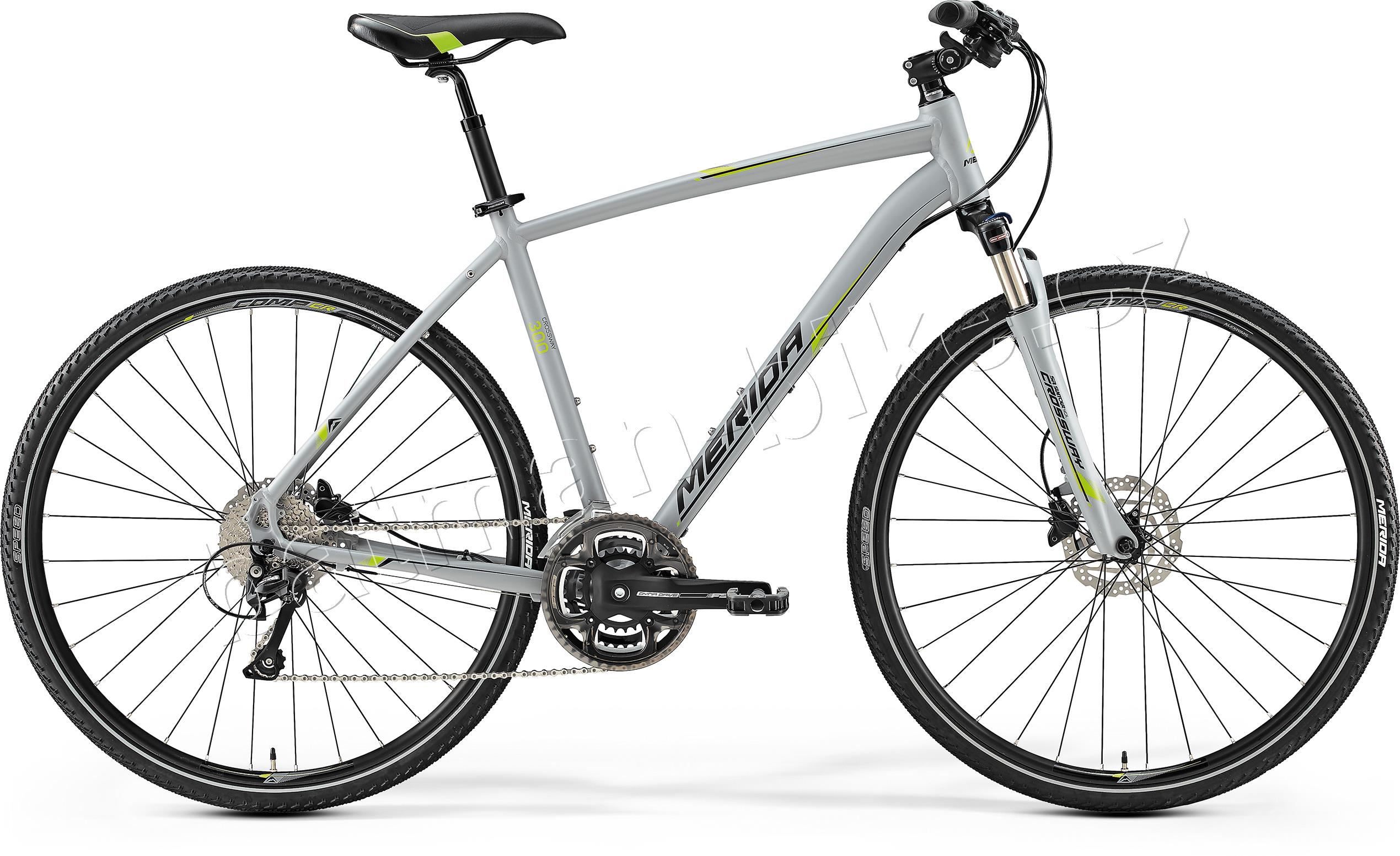 Merida CROSSWAY 300 Matt Grey(Green/Black)* 41
