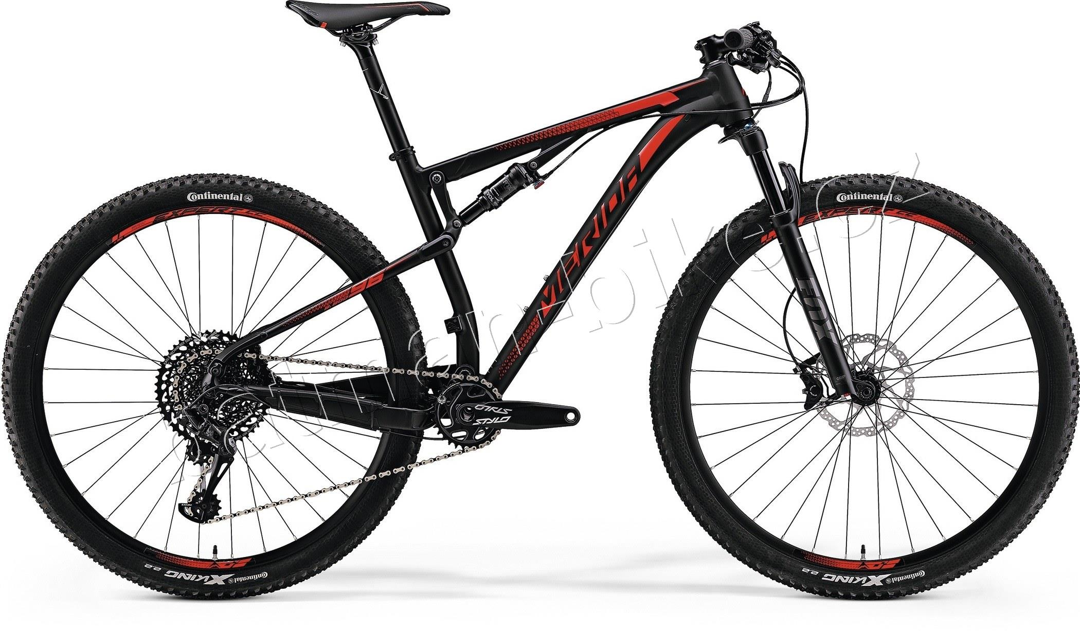 Merida NINETY-SIX 7.800 Matt Black(Shiny Red)